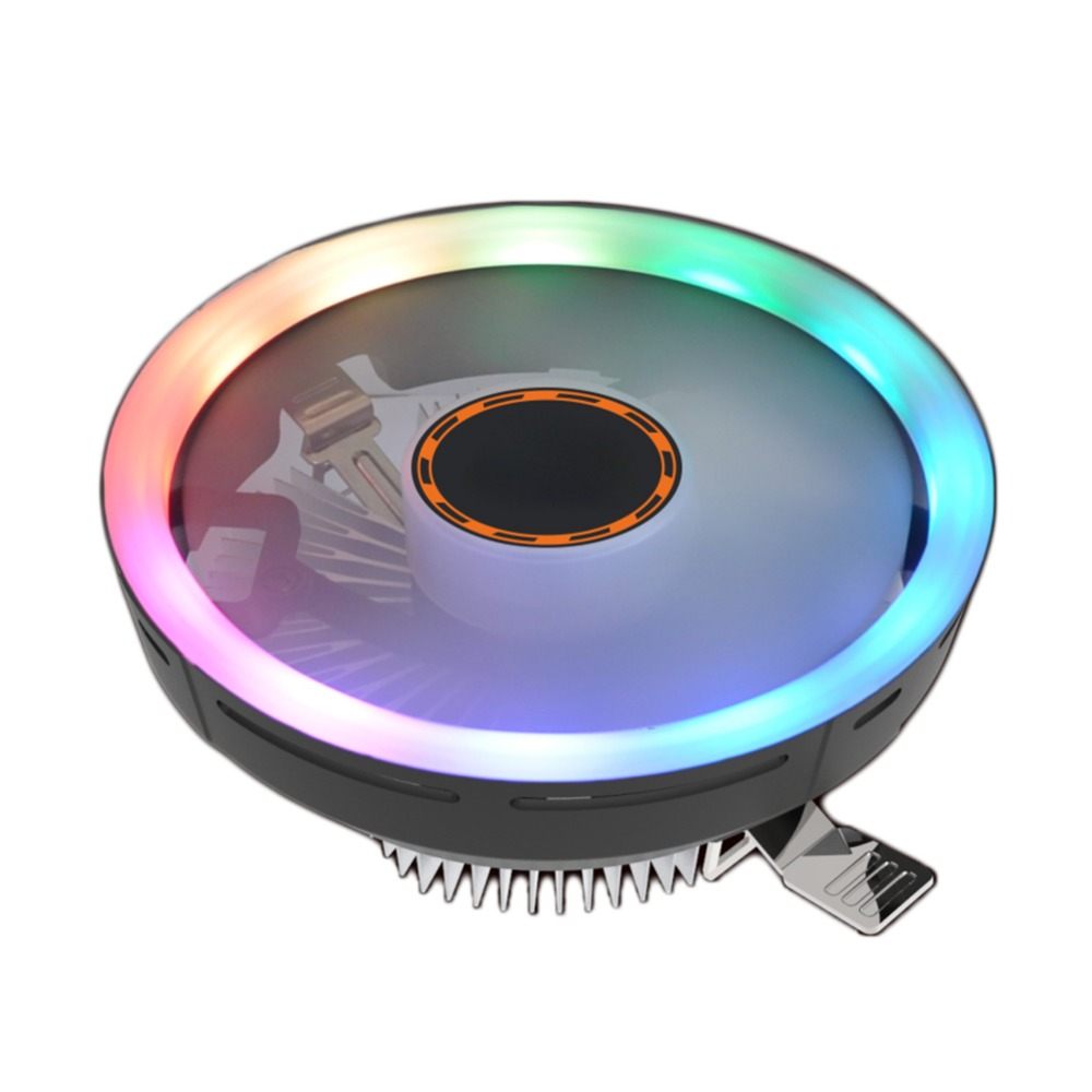 DC12V 12cm PC Silent <font><b>Cooler</b></font> LED Aperture <font><b>CPU</b></font> Cooling Fan Hydraulic Bearing Heat Sink Radiator for i3/i5/i7/AMD/775/1150/<font><b>1151</b></font>/115 image