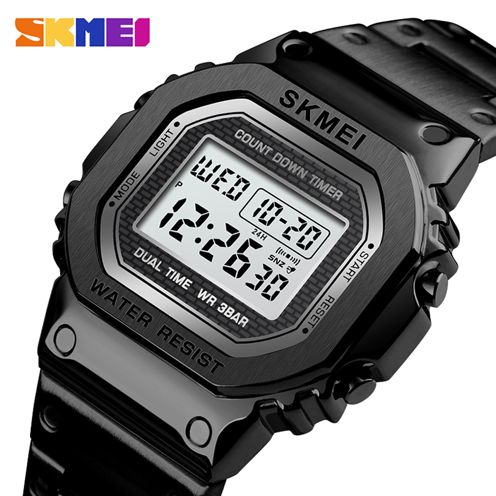 <font><b>SKMEI</b></font> Men's Watch Waterproof Chronograph Countdown Digital Watch Men Fashion Sport Wristwatch Alarm Clock Reloj Hombre image