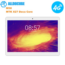 Orginal ALLDOCUBE M5X 4G LTE Tablet PC 10.1'' Android 8.0 MTK X27 Deca Core 2.6GHz 4GB 64GB 5MP Dual Camera Phone Call Tablets