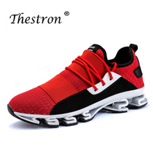 Mens Sport Sneakers Summer Sneakers for Men Breathable Mens Trainers Shoes Sport  39-44 Running Shoes Male Sport Shoes цена 2017