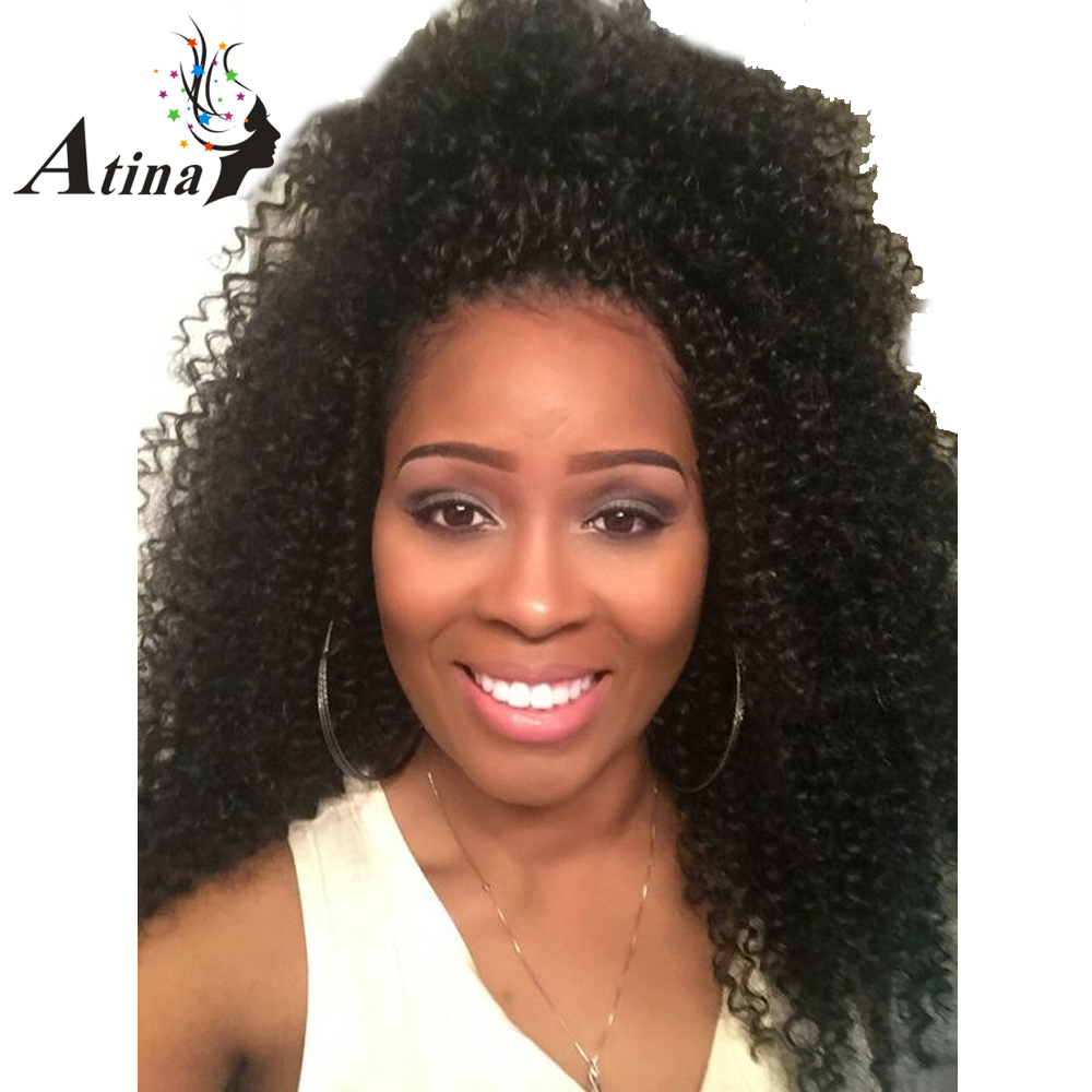 Atina Afro Kinky Curly Human Bulk Hair Braiding No Weft 100% Human Hair 3 Bundles A Lot Curly Human Hair Bulk Hair For Braiding