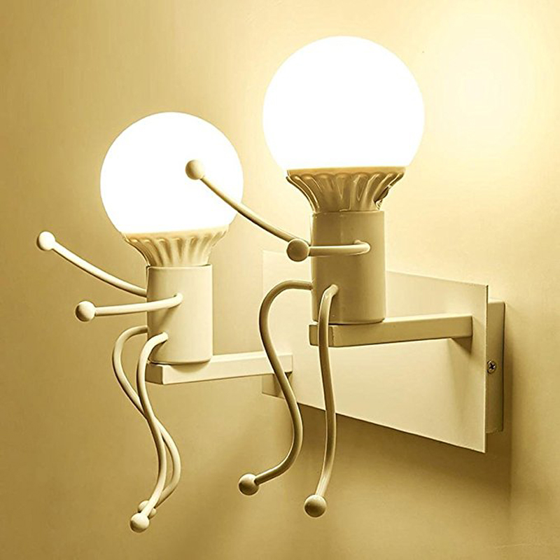 Xsky Wall Lamps Sconce Creative Modern Iron LED Wall Lights Indoor Lighting For Children Baby Kids Room Bedroom Bedside Stair post modern wall lamp indoor lighting bedside lamps wall lights for home creative modern wall sconce