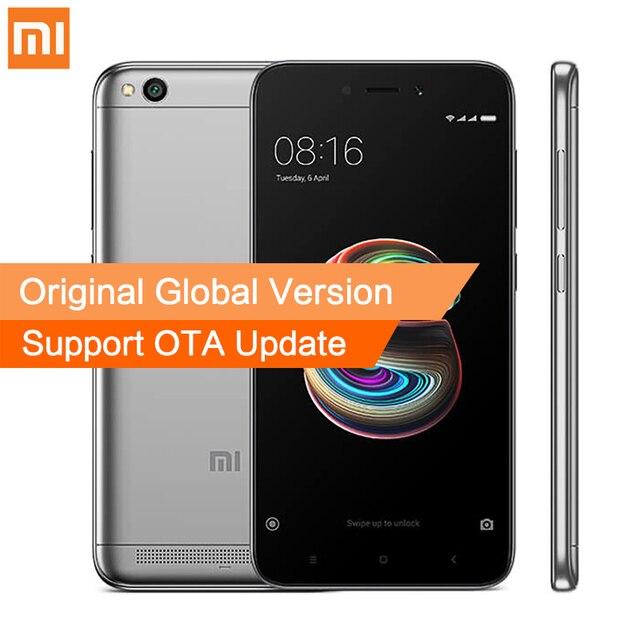 Глобальная версия Xiaomi Redmi 5A 2 ГБ Оперативная память 16 ГБ Встроенная память мобильного телефона Snapdragon 425 4 ядра Процессор смартфон 5 дюймов 13.0mp Камера 3000 мАч