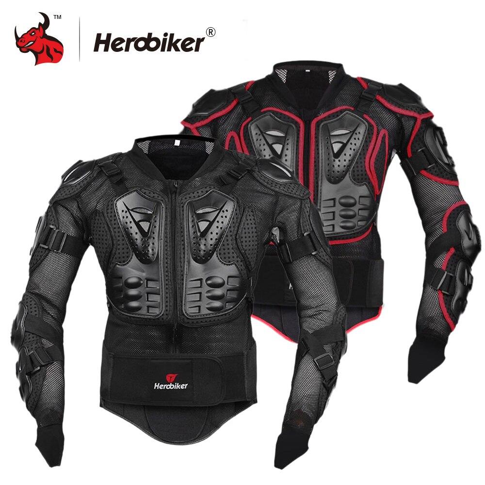 HEROBIKER Revestimento Da Motocicleta Equipamentos de Proteção Engrenagem Motocross Body Armor Peito Motor Rider Corrida Jaqueta de Proteção Da Motocicleta