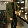 Winter long in men's leisure cloth coat Han edition cultivate one's morality fashion trench coat