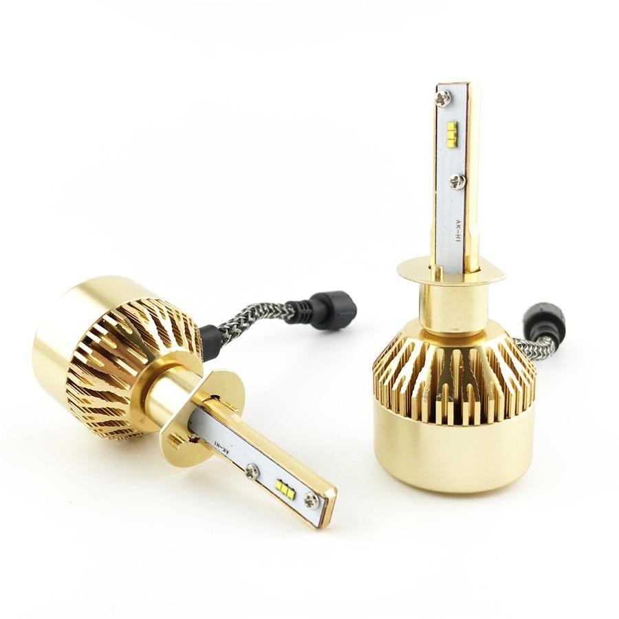 где купить Car Styling H1 LED Car Headlight 90 Watt 8000 Lumen Headbulbs Conversion Lamp Kit Auto Car Front Headlamp Light with TURBO FAN по лучшей цене