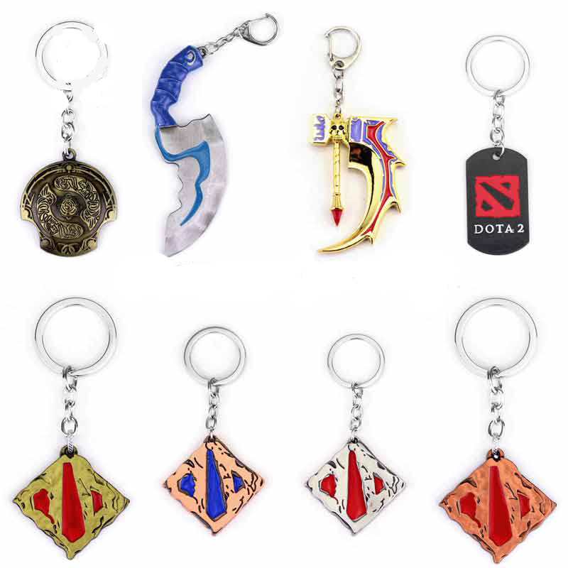 Dota 2 keychain Pudge Toys set New Game Dota2 Weapons Sword Talisman Props Ornaments Car Styling Decor Gift for Player Game Gift цена