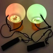 1 пара светодиодный POI брошенные шары для профессионального уровня танца живота ручной реквизит 2016CA