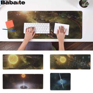 Babaite Stellaris Locking Edge Mouse Pad Game Speed/Control Version Large Gaming Mouse Pad