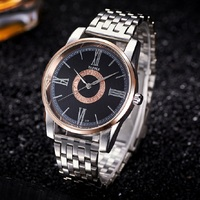 Business Men Watches Top Brand Luxury Quartz Relojes Hombre Stainless Steel Band Analog Male Wristwatches Clock