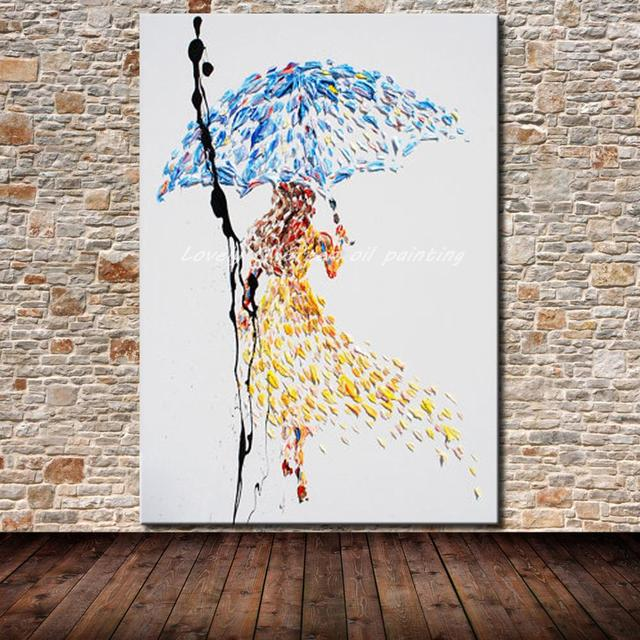 Frameless Paintings Hand Painted Modern Abstract Figure Oil Painting On Canvas Wall Art Picture For Living Room Decoration Gift
