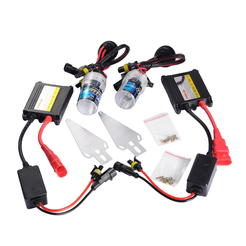ФОТО Car Light Source 2Pcs 5000K Car Head Light Replacement H1 Xenon HID Headlight 35W Bulb Lamp