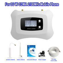 Mejor Precio! Nueva Actualización Inteligente 2100 mhz 3G mobile booster de señal amplificador mini 3g Repetidor kit con Pantalla LCD