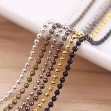 100×2.4 ملليمتر الأزياء قلادة الكرة الخرزة سلاسل للقلادة diy صنع المجوهرات اكسسوارات 70 سنتيمتر 27.5 بوصة