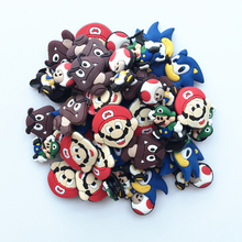 Free Shipping 100pcs/lot Super Mario shoe charms ,shoe accessories, shoe decoration fit croc for children gift