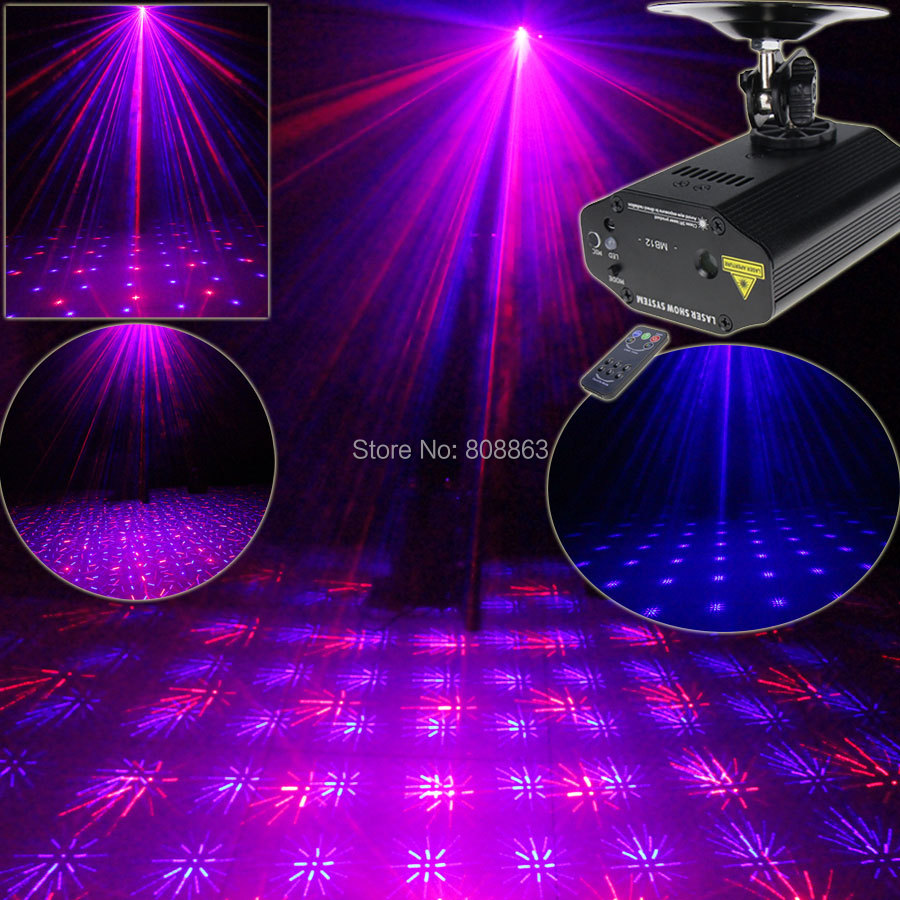 New High Quality Mini Red Blue Laser Projector Full Stars Patterns Dance Disco Bar Family Party Xmas DJ lighting Light Show T13 rg mini 3 lens 24 patterns led laser projector stage lighting effect 3w blue for dj disco party club laser
