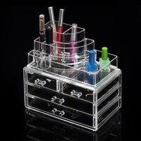 Güzellik Akrilik Makyaj Organizatör Saklama Kutusu 12 Çekmece Kozmetik Plastik Kutu Kat Organizasyon