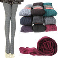 Mulheres Outono Inverno Meia-calça de Algodão Grosso Torção Listrado Bonito Meninas Collants Meias Retro Baratos Por Atacado
