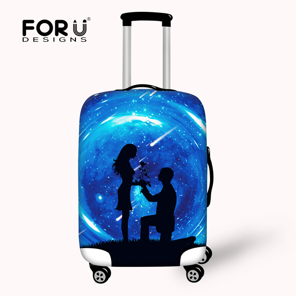 Thick 3D Waterproof Luggage Protective Covers Fashion Travel Suitcase Cover Elastic Luggage Cover For 18-30 inch Luggage Covers