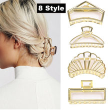 Hot Sale Fashion Shell Square Metal Hair Claws Pearl Clip Women Barrettes Shower Holder Accessories