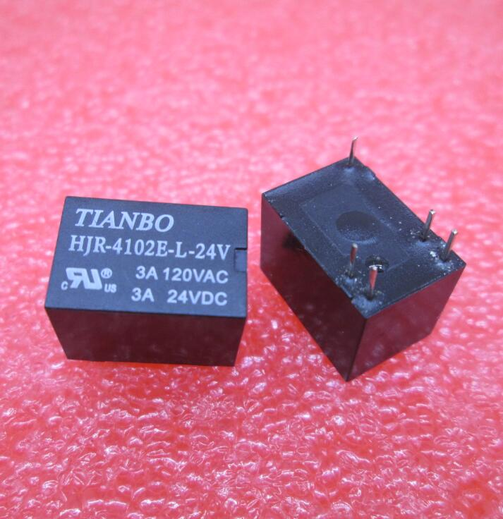 HOT NEW relay HJR-4102E-L-24V HJR-4102E-L-24VDC HJR-4102E 24V 24VDC DC24V 3A TIANBO DIP5 g5nb 1a e 24vdc g5nb 1a 24vdc