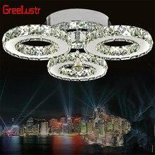 Хрустальная люстра освещение 3 кольца современный 30 Вт светодиодные люстры Luminaria плафон потолочный светильник для спальни светильники
