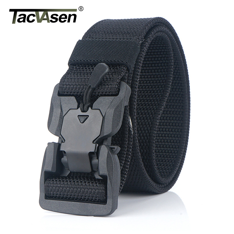 """1/"""" Skinny Nylon Belt Mens Tactical Military Quick Release Buckle Work Belts New"""