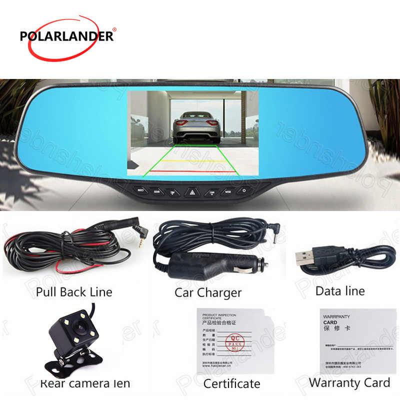 4,3 дюймов Автомобильный видеорегистратор Камера HD 1080P Dashcam синий зеркало заднего вида ЖК-видео рекордер авто видеорегистратор новое поступление