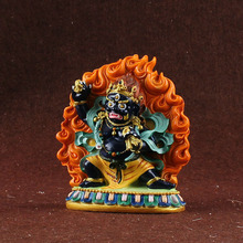 1 pcs Vajrapani, King dense tracks wead the Bodhisattva, hand painted, small statues of Yamantaka , buddha figurine