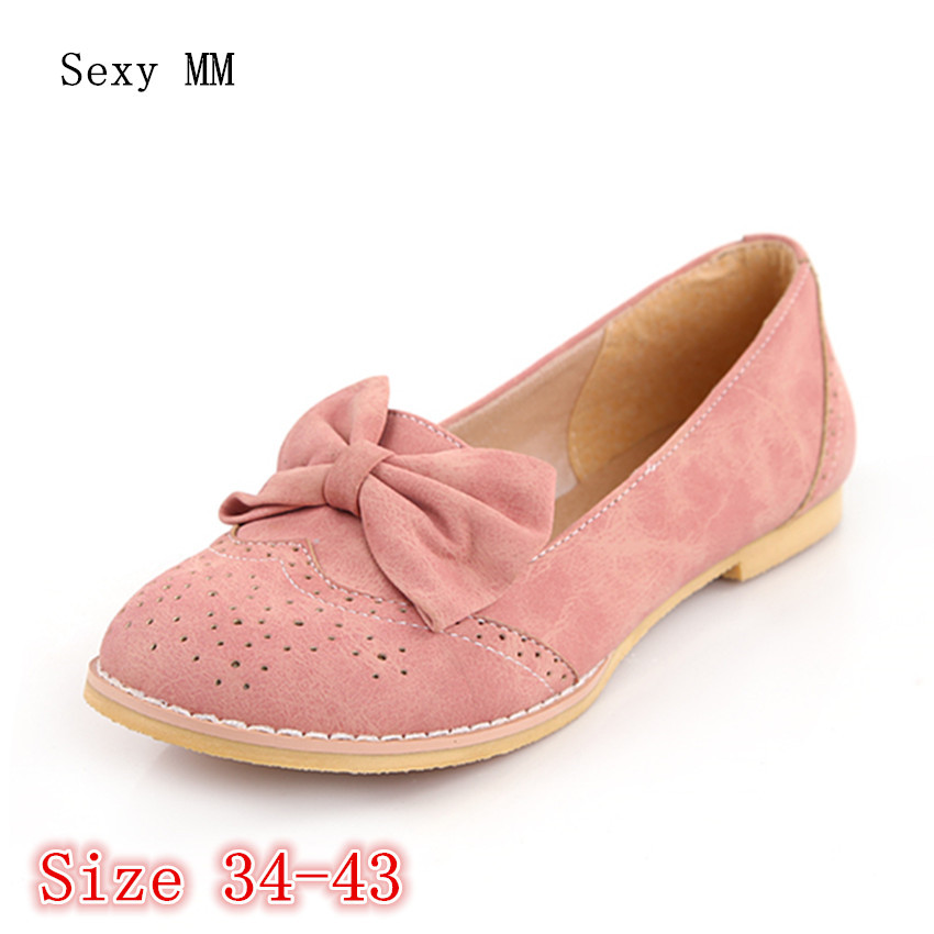 Slip On Oxfords Shoes Women Loafers Flats Woman Flat Shoes Soft Comfortable Casual Shoes Plus Size 34 - 40 41 42 43 akexiya casual women loafers platform breathable slip on flats shoes woman floral lace ladies flat canvas shoes size plus 35 43