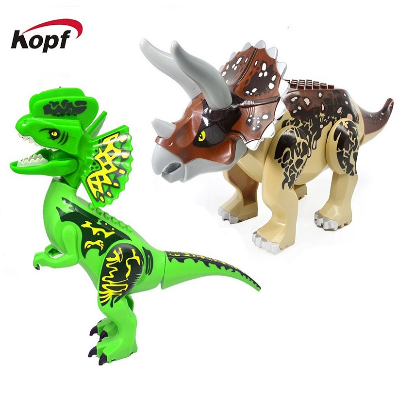 Single Sale Dinosaur Jurassic World Park Big Size Tyrannosaurus DIY Assemble Building Blocks Toys For Children Gift KF916 KF917