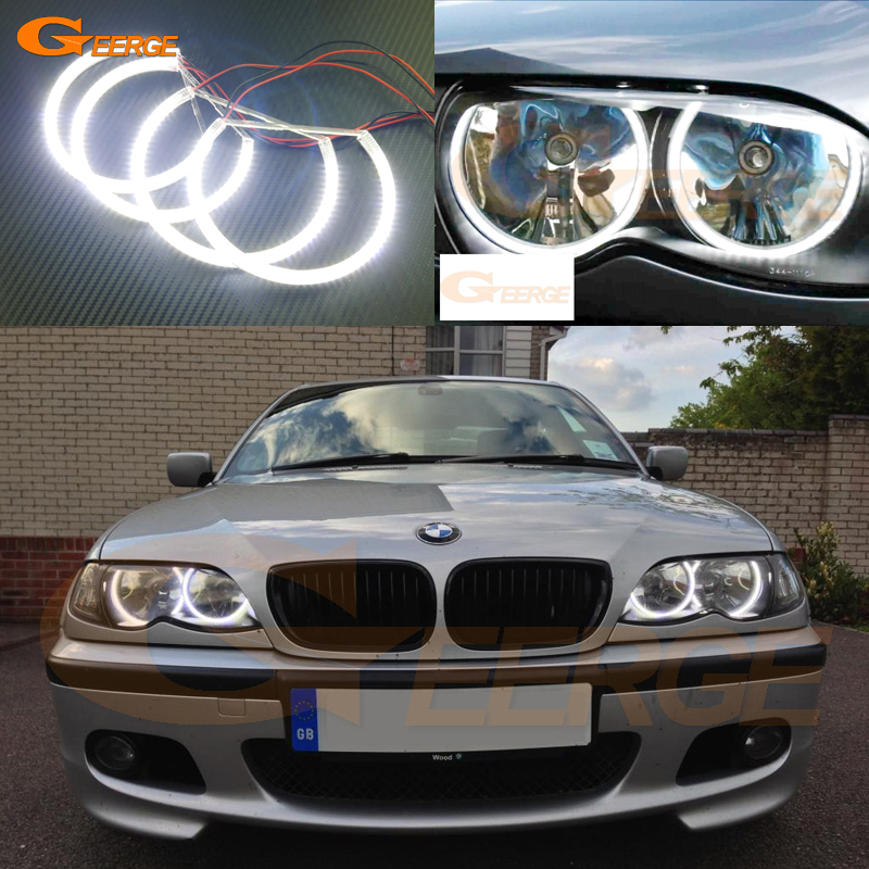 For BMW E46 Sedan Wagon Halogen headlight 1999-2003 Excellent angel eyes Ultra bright illumination smd led angel eyes kit купить mitsubishi cedia wagon москва