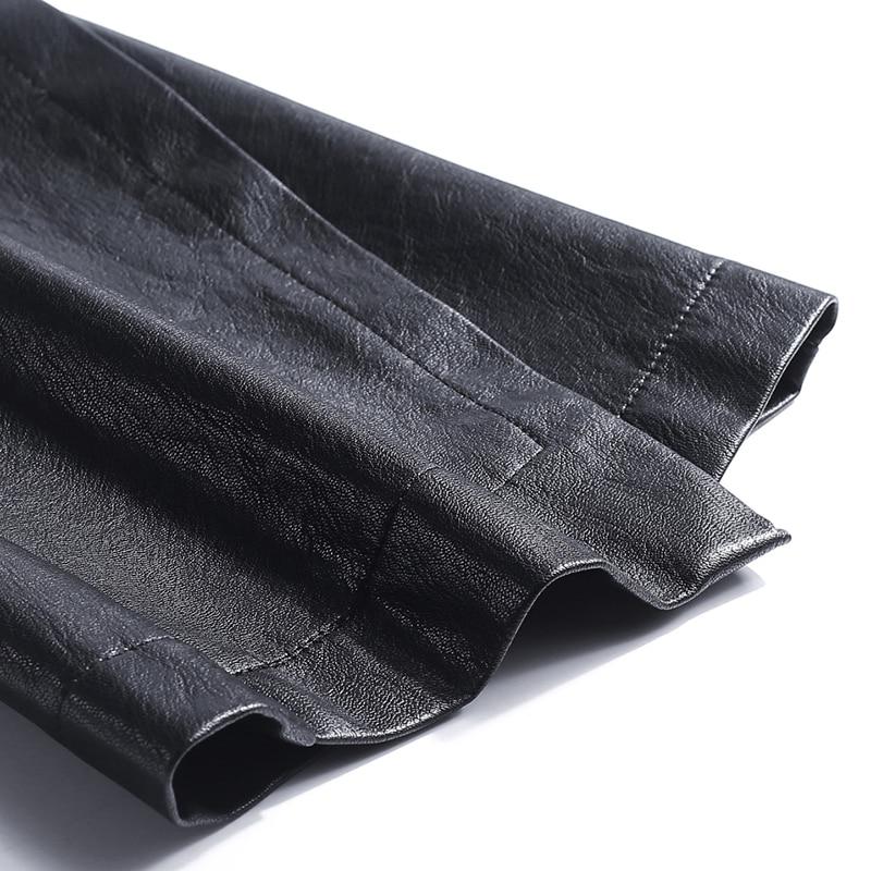 Fashion Brand Ankle-Length sheep leather pants 2020 autumn Women's High package hip Quality Slim Flare Pants wj1163 Women Women's Clothings Women's Dresses cb5feb1b7314637725a2e7: Ankle-Length Pants