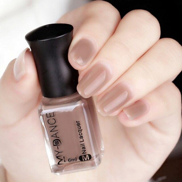 MYDANCE 1 Bottle 6ml Nude Color Nail Polish Long lasting Nail ...