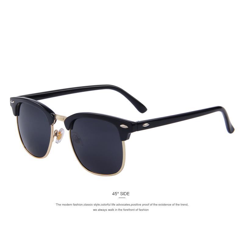 MERRY'S Men Retro Rivet Polarized Sunglasses Classic Brand Designer Unisex Sunglasses UV400