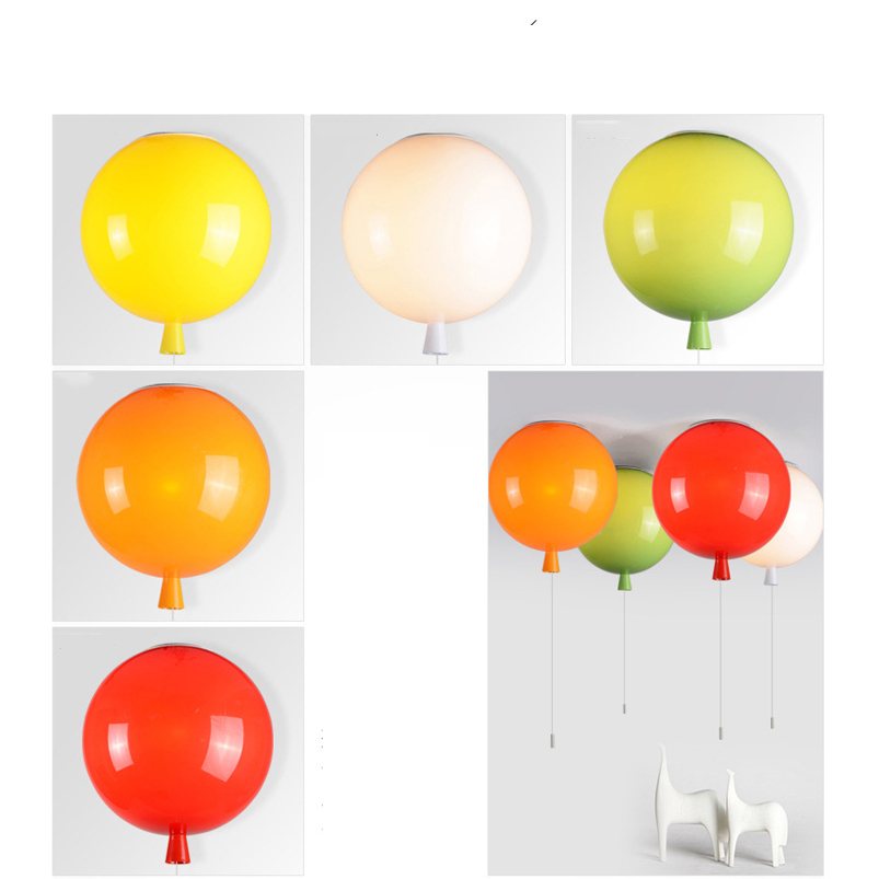 Colorful balloon ceiling lamps,Bedside baby child room bedroom balcony stair lighting lamps bra,wall sconce E27 light lamparas