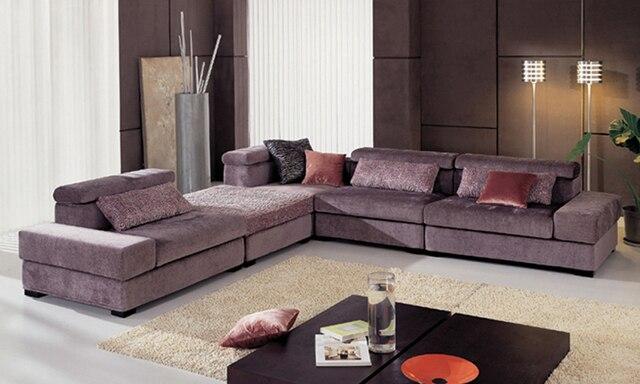 Envío Gratis muebles De Tela nuevo diseño de la Sala en forma de L ...