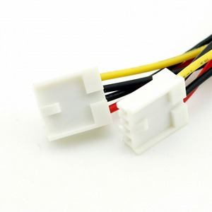 Image 4 - 1pc 4 פינים molex כפול 4 פינים תקליטונים מחשב כוח Y ספליטר מתאם מחבר כבל עבור תקליטונים כונן FDD 20cm