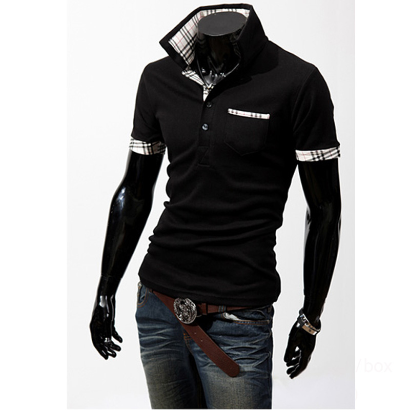 Haute qualité 2018 De Mode D'été vêtements pour hommes Casual Slim Fit sucrerie Hommes à manches courtes revers Polo Chemises hommes hombre homme