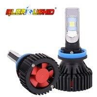 1 Pair H11 LED Auto Car Light H8 H9 LED Headlight 50W 8000LM ZES Chips Automobile