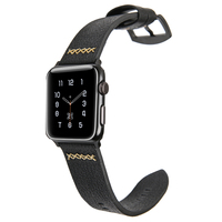 Apple Watch Bands Series 1 2 Luxury Genuine Leather Strap Replacement Band Strap With Stainless Steel