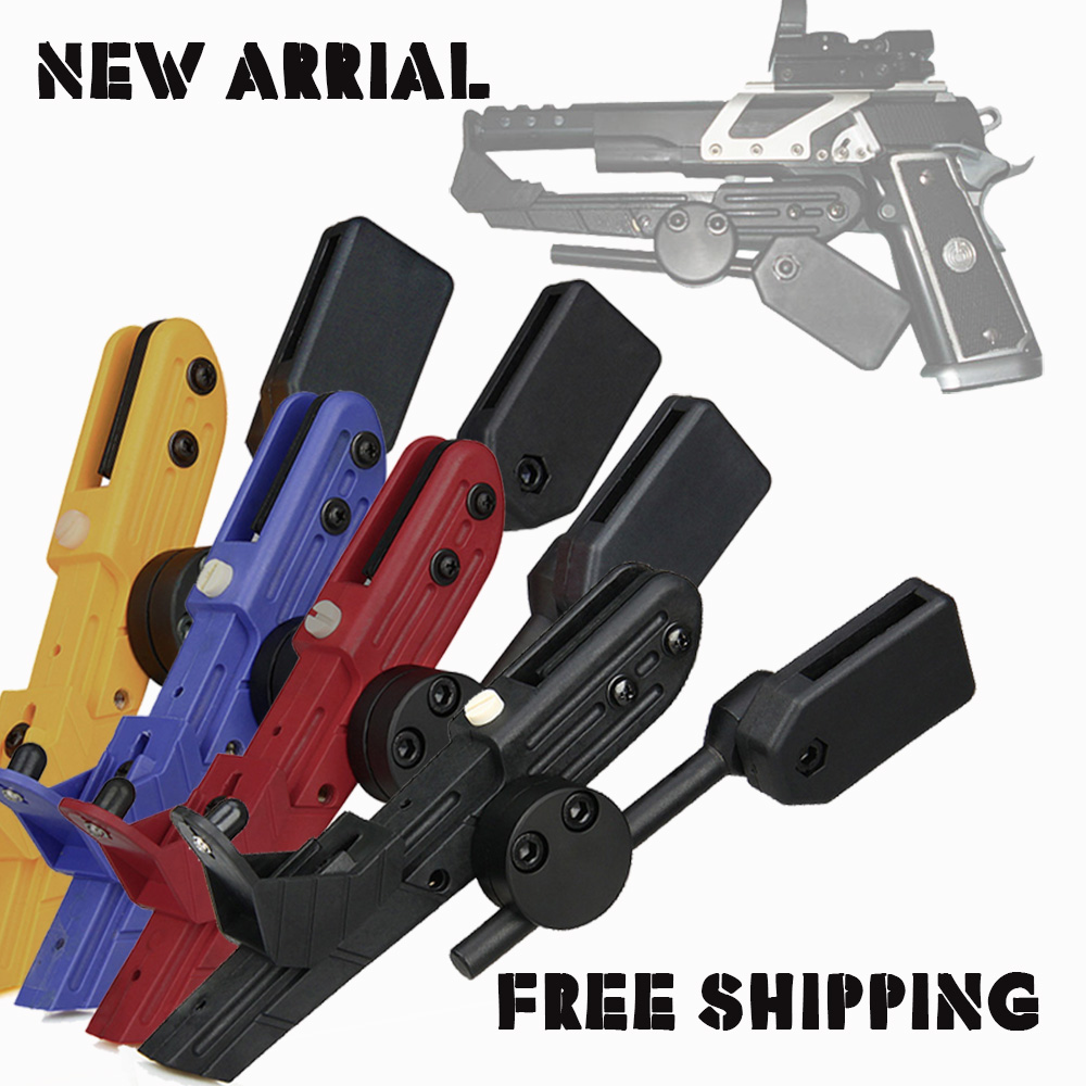Free Shipping Black Red Blue Yellow Tactical Right Hand IPSC Style Universal CR Speed Holster for Outdoor Hunting CL7-0021 universal nylon cell phone holster blue black size l
