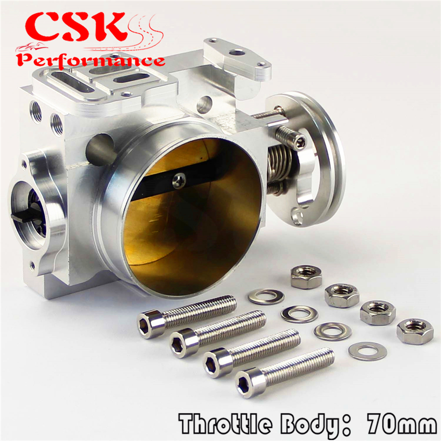 For 02 05 Impreza WRX STI EJ20 EJ25 Bolt On 70MM Throttle Body GDB GDA Turbo