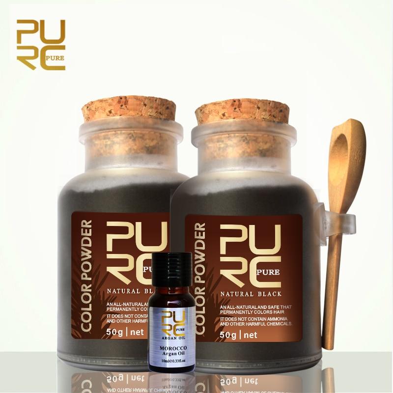 Purc Hair Color Powder Organic Herbal Hair Dye Powder For Hair