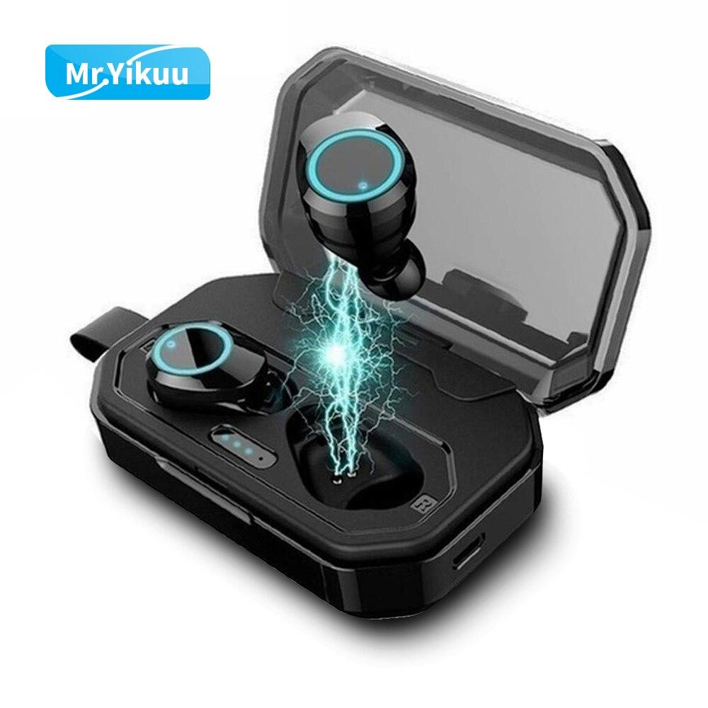 Bluetooth 5.0 Écouteurs TWS écouteurs sans fil pour le sport Volume Tactile Contrôle Casque IPX7 Pour Xiaomi Huawei Intra-auriculaires iPhone 7 X Siri
