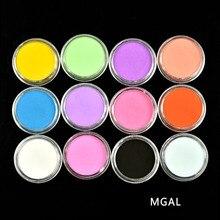 12 цветов, акриловая пудра для ногтей, жидкая, сделай сам, красочная пыль, набор для 3d художественной формы, резная пудра, маникюрные советы, дизайн ногтей, 3D украшение