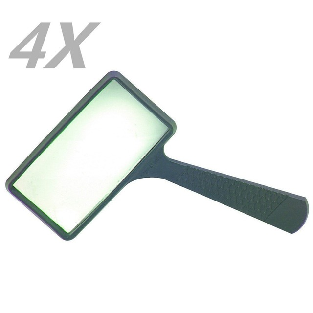 "4x Rectangle Magnifying Glass 2 ""x 4"" size for reading TO97"