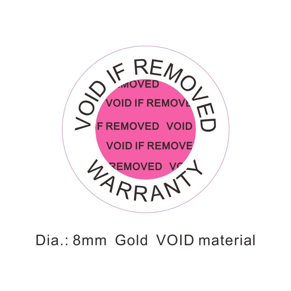 Image 3 - phone repair VOID IF REMOVED Warranty  8mm small security Hologram for one time use-in Stationery Stickers from Office & School Supplies