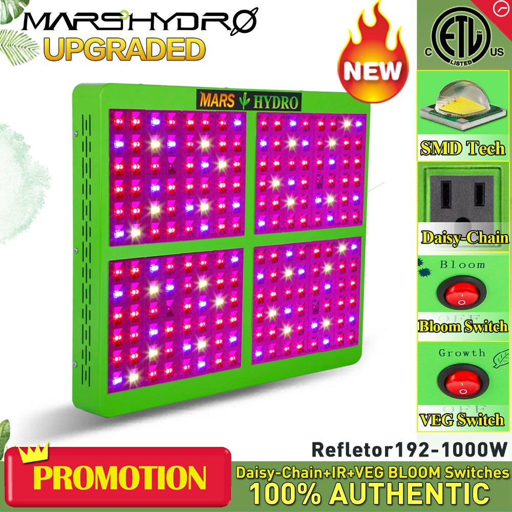 MarsHydro Reflector 1000W LED Grow Light Hydroponics Lamp for Indoor Garden/BoxMarsHydro Reflector 1000W LED Grow Light Hydroponics Lamp for Indoor Garden/Box