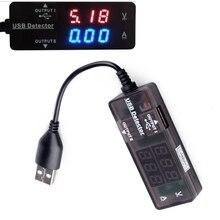 Portable Digital Led font b USB b font 2 0 Dual Output Charging Power Voltage Current